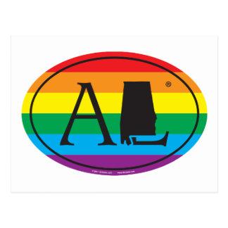 Cartão Postal Euro do orgulho do estado de LGBT: AL Alabama