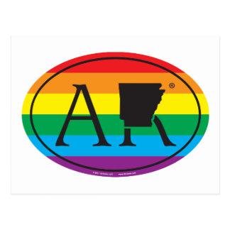 Cartão Postal Euro do orgulho do estado de LGBT: Arizona de AZ