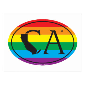 Cartão Postal Euro do orgulho do estado de LGBT: CA Califórnia
