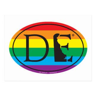 Cartão Postal Euro do orgulho do estado de LGBT: DE Delaware