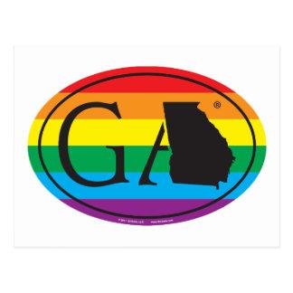 Cartão Postal Euro do orgulho do estado de LGBT: GA Geórgia