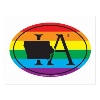 Cartão Postal Euro do orgulho do estado de LGBT: IA Iowa