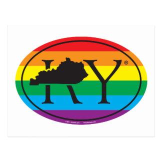 Cartão Postal Euro do orgulho do estado de LGBT: KY Kentucky