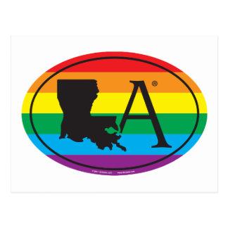 Cartão Postal Euro do orgulho do estado de LGBT: LA Louisiana