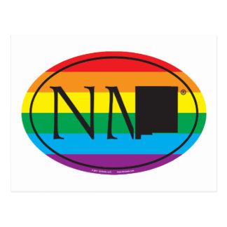 Cartão Postal Euro do orgulho do estado de LGBT: Nanômetro New