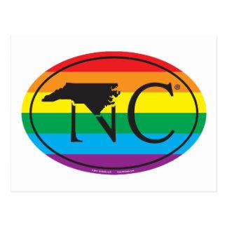 Cartão Postal Euro do orgulho do estado de LGBT: NC North