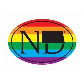 Cartão Postal Euro do orgulho do estado de LGBT: ND North Dakota
