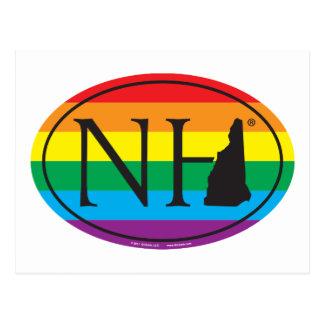 Cartão Postal Euro do orgulho do estado de LGBT: NH New
