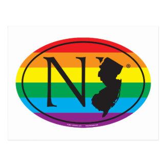 Cartão Postal Euro do orgulho do estado de LGBT: NJ New-jersey