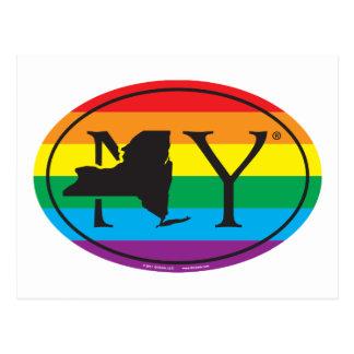 Cartão Postal Euro do orgulho do estado de LGBT: NY New York
