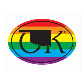 Cartão Postal Euro do orgulho do estado de LGBT: Oklahoma