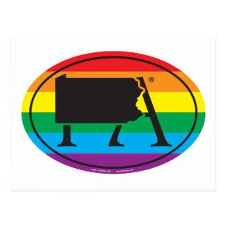 Cartão Postal Euro do orgulho do estado de LGBT: PA Pensilvânia