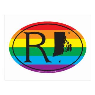 Cartão Postal Euro do orgulho do estado de LGBT: RI Rhode - ilha