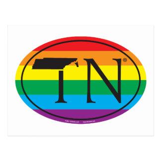 Cartão Postal Euro do orgulho do estado de LGBT: TN Tennesse