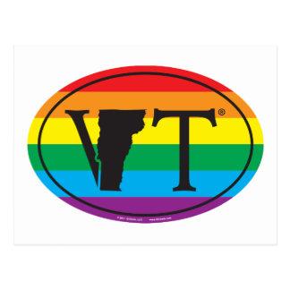 Cartão Postal Euro do orgulho do estado de LGBT: VT Vermont