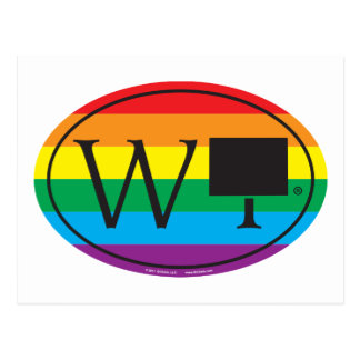 Cartão Postal Euro do orgulho do estado de LGBT: WY Wyoming