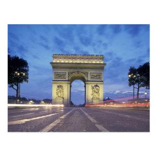 Cartão Postal Europa, France, Paris. Arco do Triunfo como visto