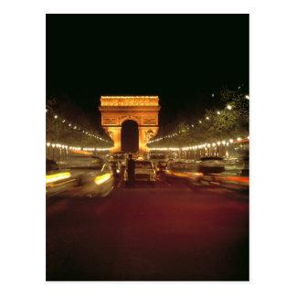 Cartão Postal Europa, France, Paris. Precipitações do tráfego da