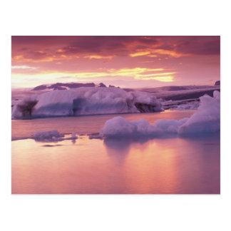 Cartão Postal Europa, Islândia, lagoa de Jokulsarlon
