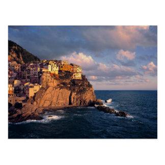 Cartão Postal Europa, Italia, Manarola. Penhasco-nestled