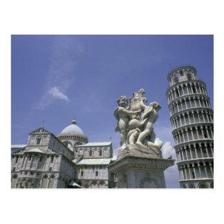 Cartão Postal Europa, Italia, Pisa, torre inclinada de Pisa
