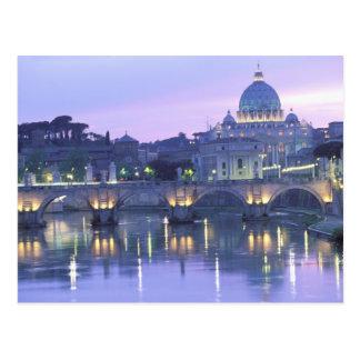 Cartão Postal Europa, Italia, Roma, o vaticano. St Peter &