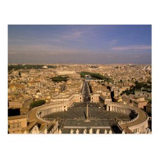 Cartão Postal Europa, Italia, Roma, o vaticano. Vista do St.
