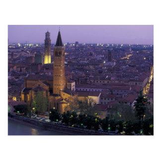 Cartão Postal Europa, Italia, Verona, vista do Castel S.