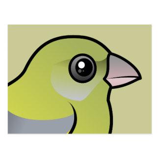 Cartão Postal Europeu Greenfinch
