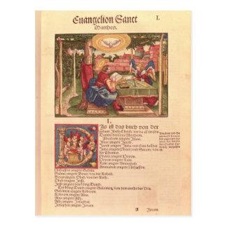 Cartão Postal Evangelho de St Matthew, livro mim