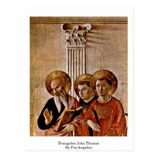 Cartão Postal Evangelista John Thomas por Fra Angelico