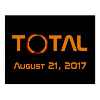 Cartão Postal Evento total do eclipse solar