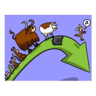 Cartão Postal Evolução da vaca