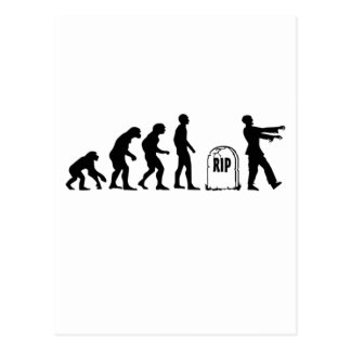 CARTÃO POSTAL EVOLUÇÃO DO ZOMBI