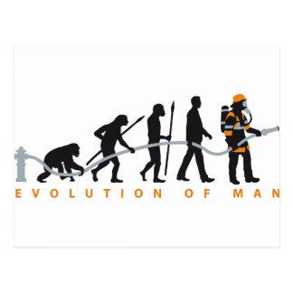 Cartão Postal evolution of ele fire fighter