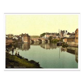 Cartão Postal Exbridge, clássico Photochrom de Exeter,