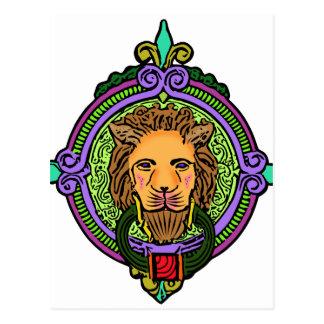 Cartão Postal Exclusive da arte do leão