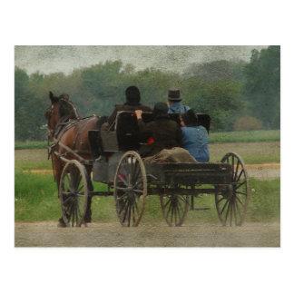 Cartão Postal Excursão da família de Amish