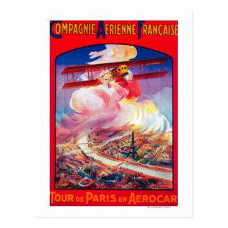 Cartão Postal Excursão De Paris, France em Aerocar PosterEurope