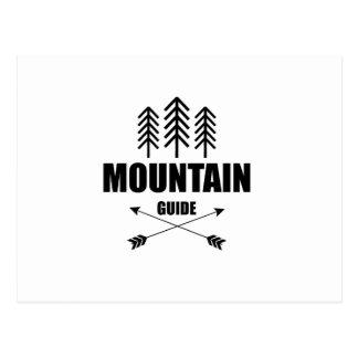 Cartão Postal Excursão e aventura, guia da montanha