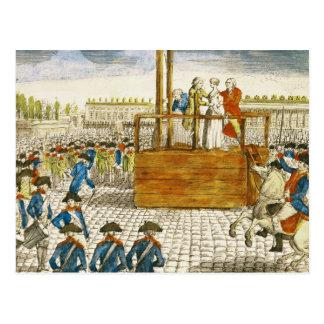 Cartão Postal Execução de Marie-Antoinette