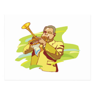 Cartão Postal executor da alma do jazz