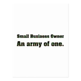 Cartão Postal Exército 2 da empresa de pequeno porte