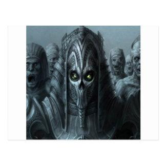 Cartão Postal Exército asteca do zombi do horror abstrato