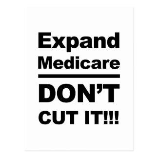 Cartão Postal Expanda Medicare-Don't cortam-no