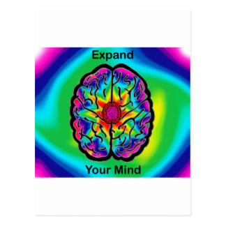 Cartão Postal Expanda sua mente