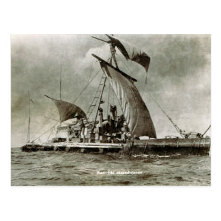 Cartão Postal Expedição de Kontiki, Thor Heyerdahl, 1947
