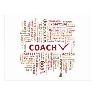 Cartão Postal Experiência das habilidades do treinador da nuvem