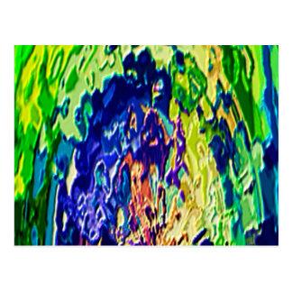 Cartão Postal Experiência espiritual V1 da chama azul de Havenly