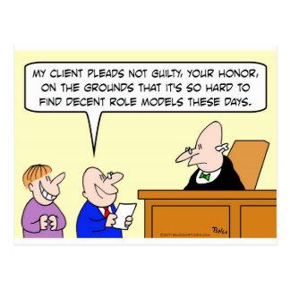 Cartão Postal experimentação aceitável do juiz dos modelos